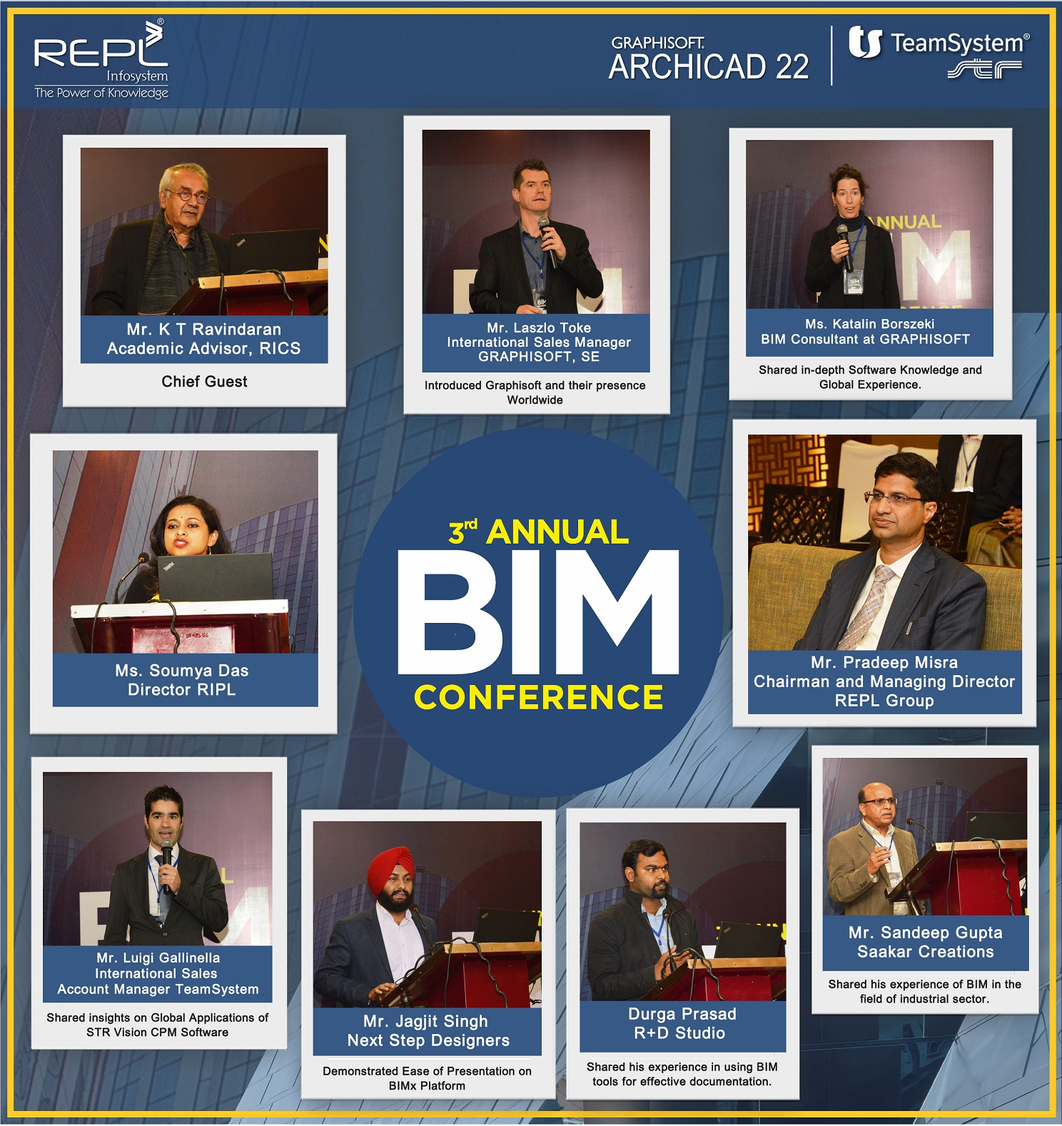 3rd Annual BIM conference on 14th Dec 18 at Crown Plaza, New