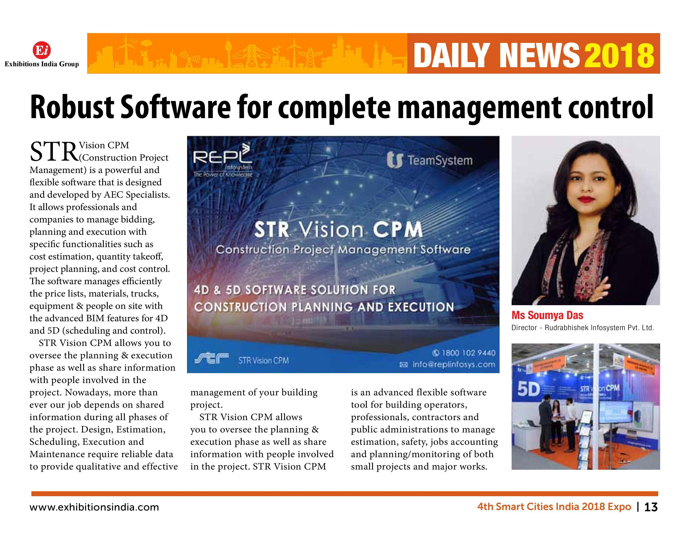 Robust Software for complete management control
